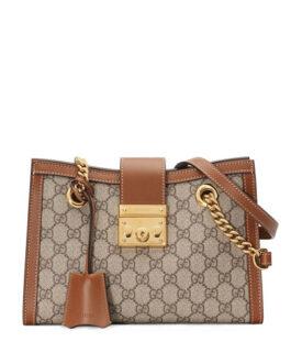 GG Supreme Canvas Padlock Shoulder Bag