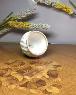 Extra Small Terracotta White Diamond Pot