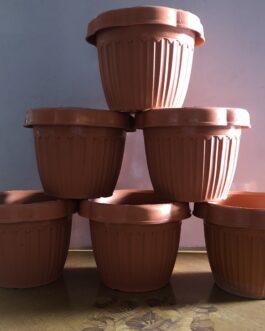 Extra Small Orange Flower Pots